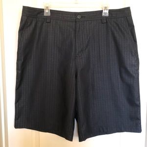 Adidas ClimaLite Flat Front Black Golf Shorts Sz38